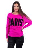 Paris Hot Pink Slogan Jumper
