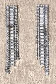 Long Diamante Silver Earrings