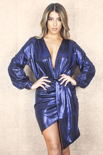 Metalic Electric Blue Dress