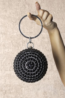 Sphere Black Pearl Clutch