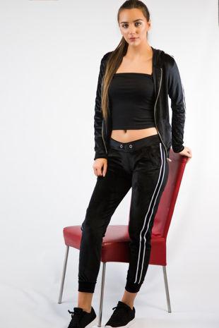 Black Velvet Loungewear Set