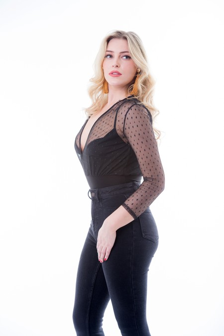 Net Bodysuit Black