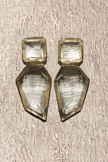 Clear Stone Earrings