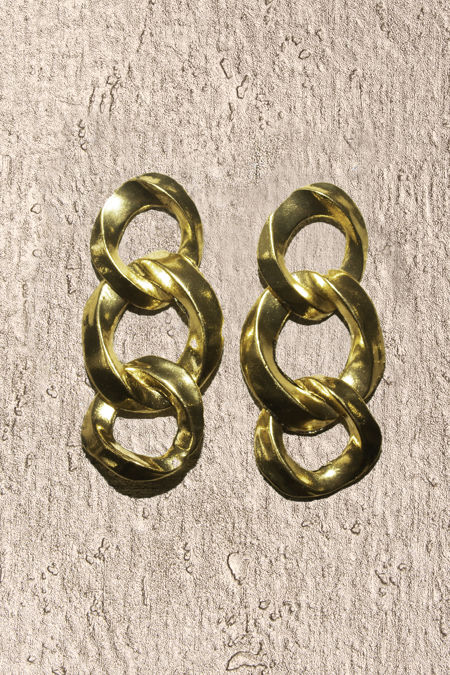 Chunky Chain Gold Earrings