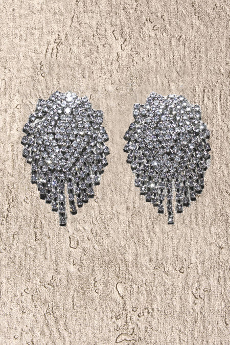 Silver Diamante Chandelier Earrings