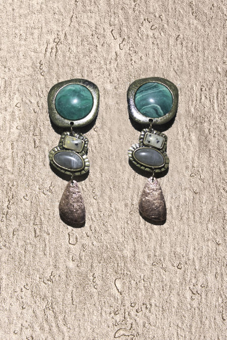 Turquoise Copper Stone Earrings