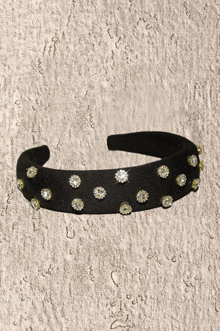 Black Diamante Headband