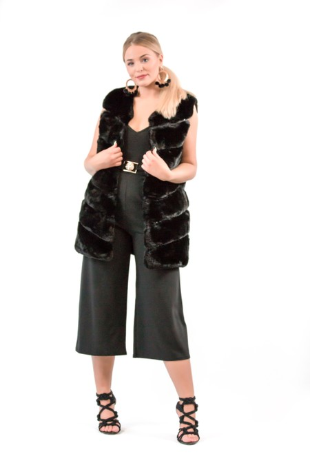 Hug Me Black Fur Gilet