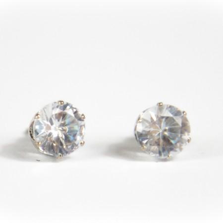 Silver Gem Stud Earings