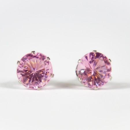 Baby Pink Gem Stud Earings