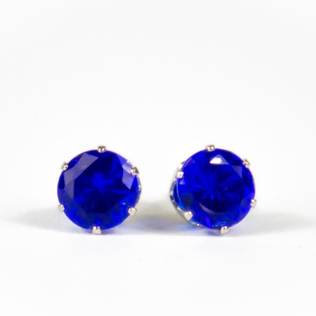 Electric Blue Gem Studs