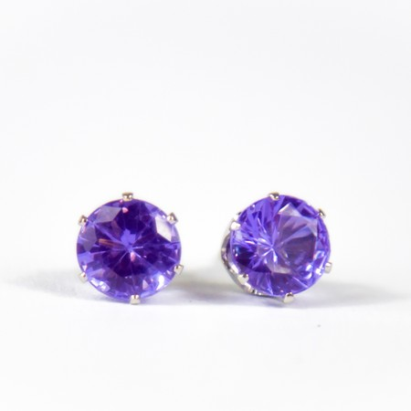 Lilac Gem Stud Earings