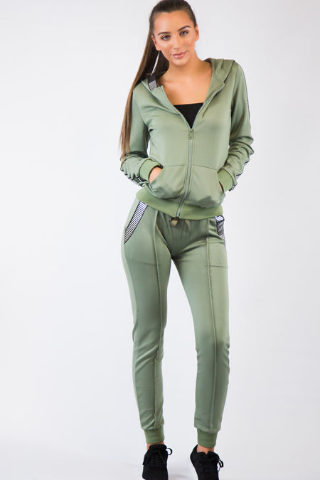 Khaki Foil Loungewear Set