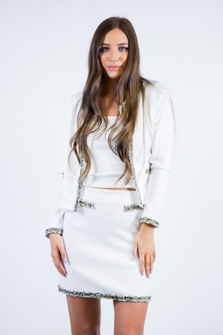 White Lady Like Skirt