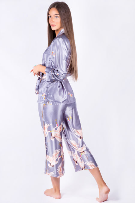 Grey Birds Pyjama Set