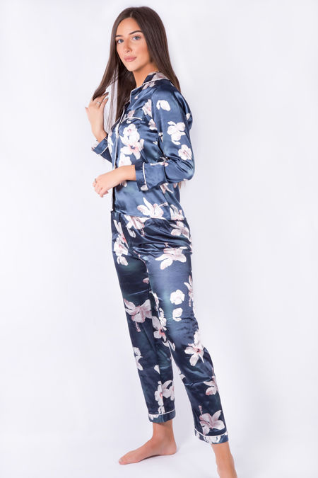Blue Flower Pyjama Set