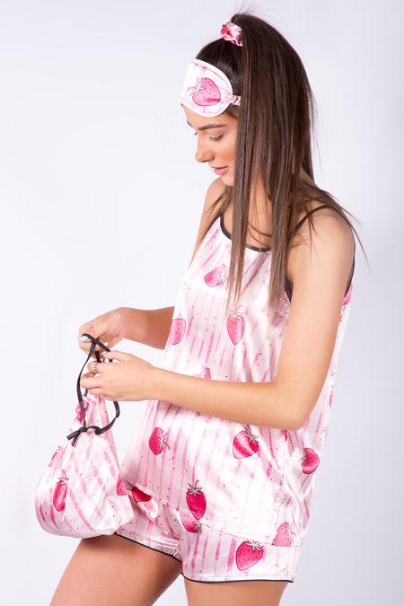 Strawberry Love Shorts Pyjama Set