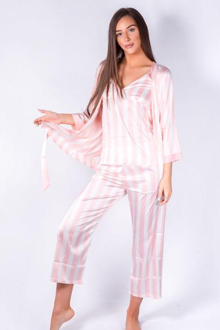Pink stripe gown
