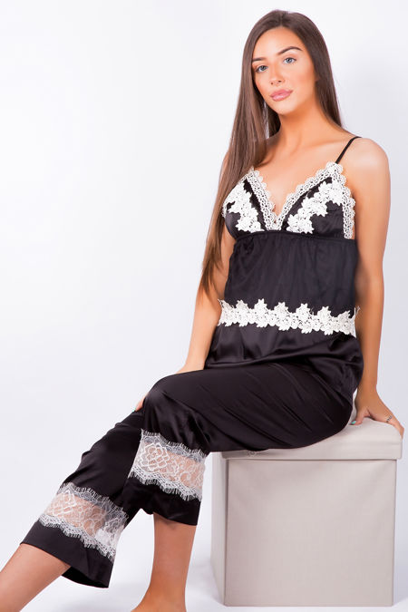 Luxury Nights Black Pyjama Set