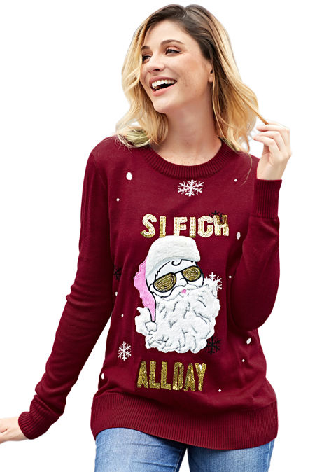 Sleigh All Day Christmas Jumper