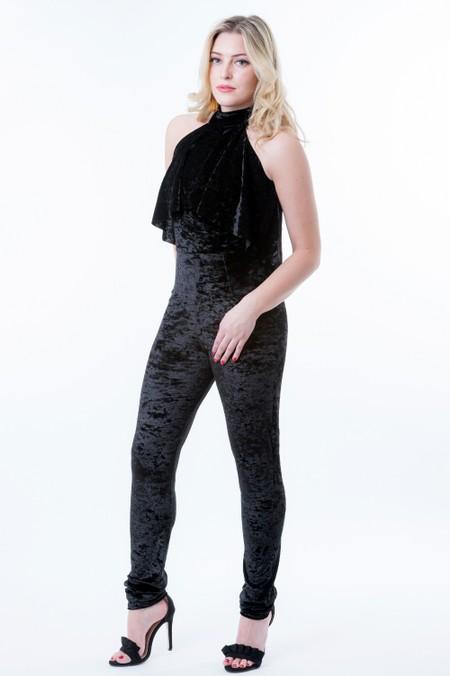 Velvet Jet Black Jumpsuit