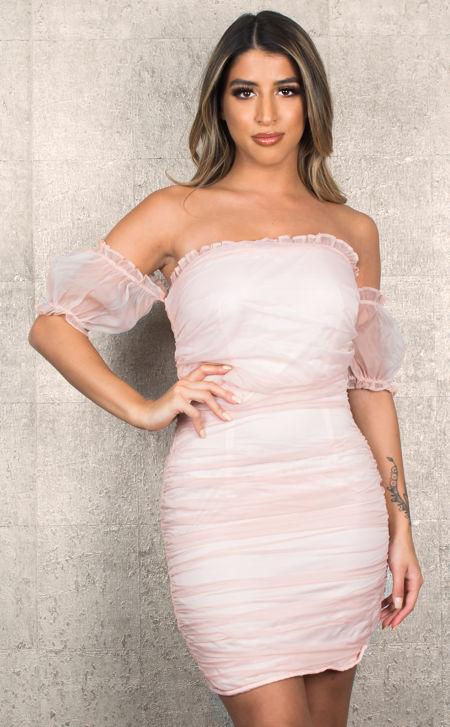Puffed Pink Dress