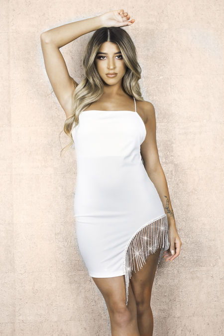 White Crystal Dress