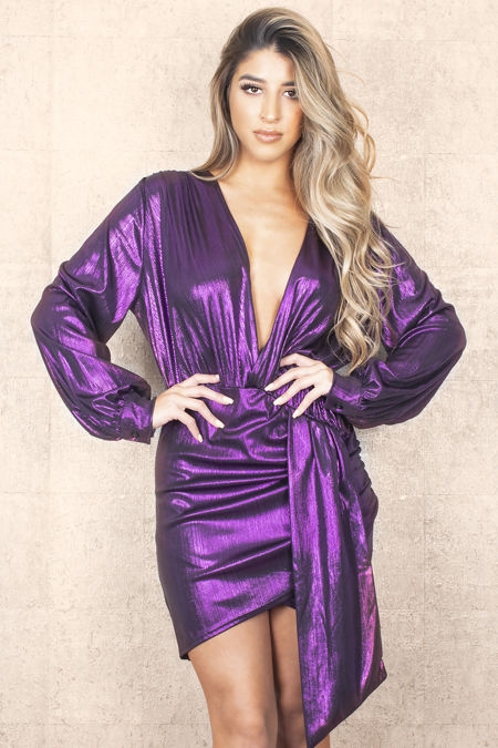 Metalic Purple Dress