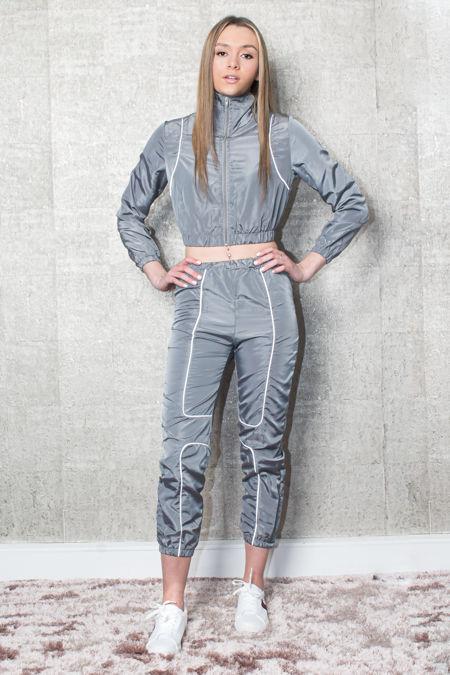 Grey Lightweight Joggers Set