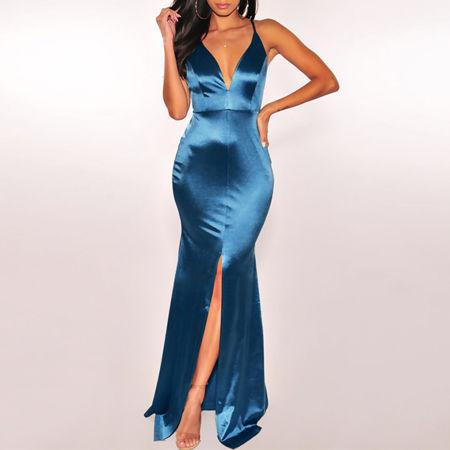 Mermaid Evenin Royal Blue Dress