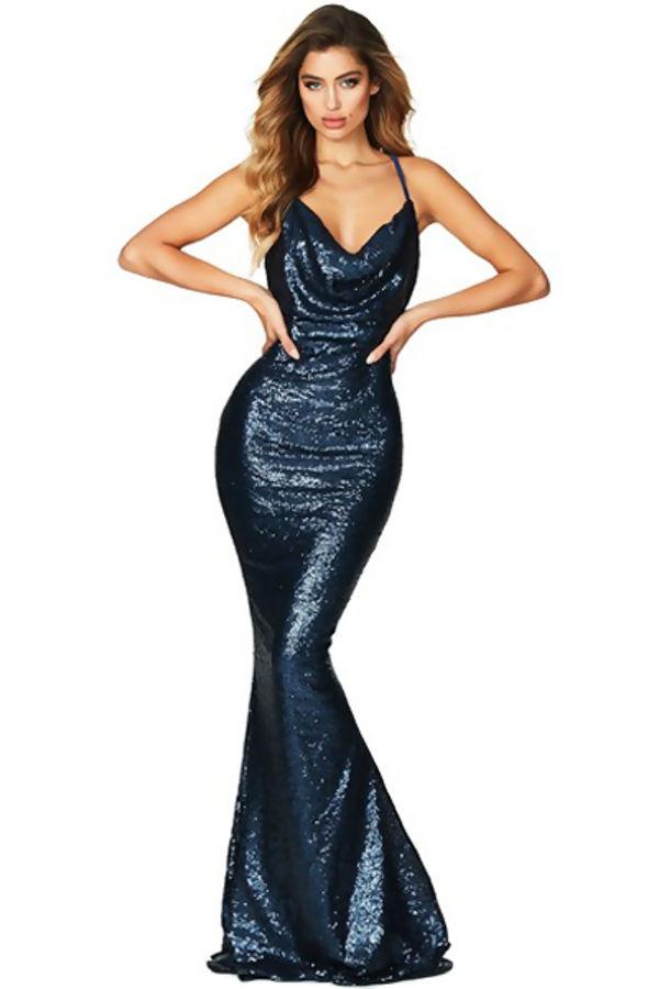 Moon Struck Navy Maxi Dress