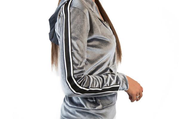 Grey Velvet Loungewear Set