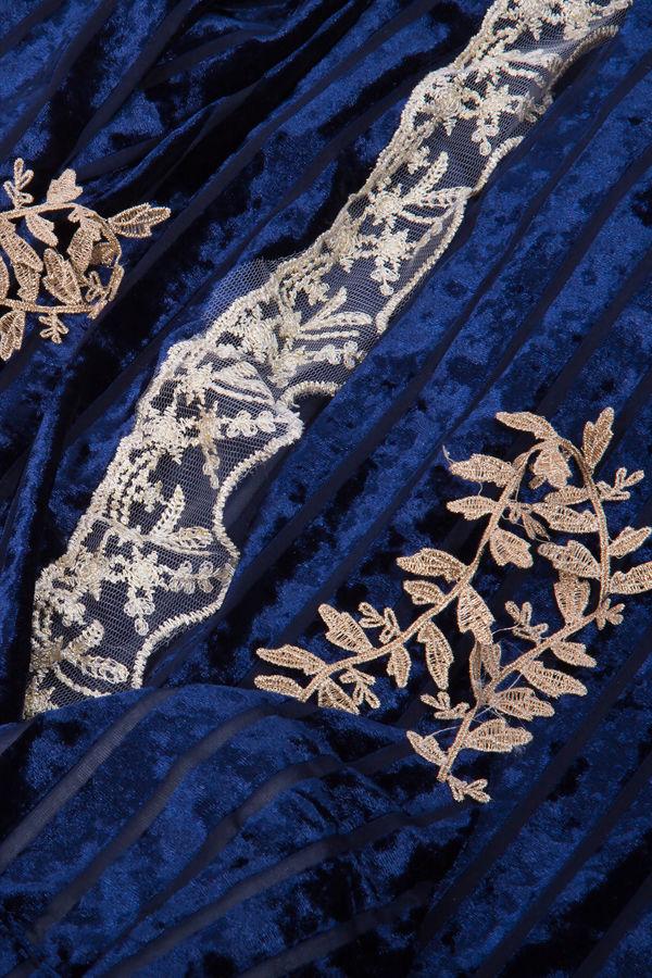 Velvet Dream Navy Luxury Nightwear Set