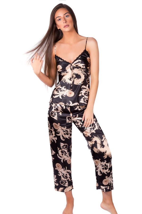 Black Dragon Pyjama Top