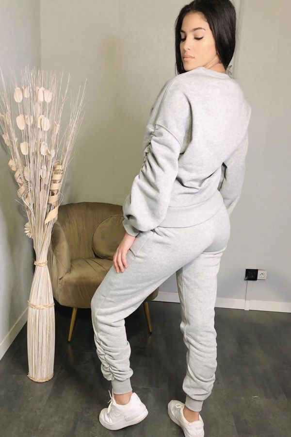 Gold Chain Grey Lounge Set