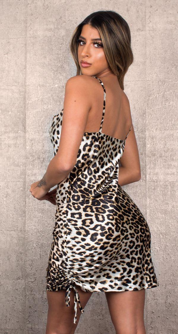 Silk Animal Print Dress