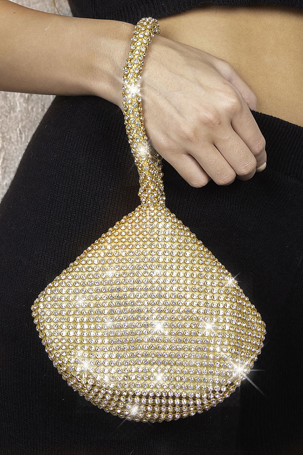 Triangle Gold Diamond Clutch