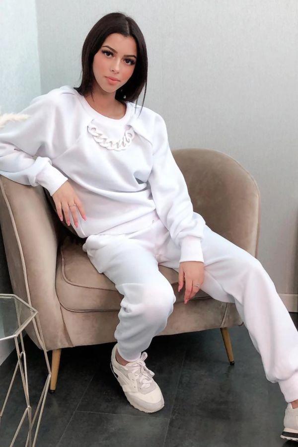 Coloured Chain White Lounge Set